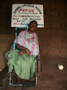 FOINTAMA ONEIL(disabled for 19years) needs your support to be able to buy food and other needs. He is fed only in the mouth by his poor parents.