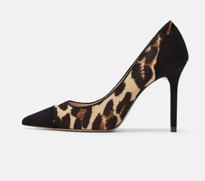 The Ferago Leopard Fur Pumps 1