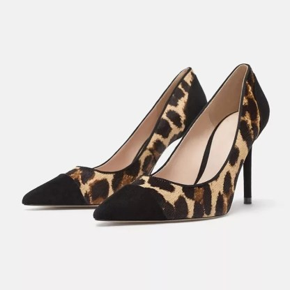 The Ferago Leopard Fur Pumps 2