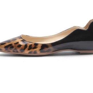 The Ferago Leopard Leather Flats 1