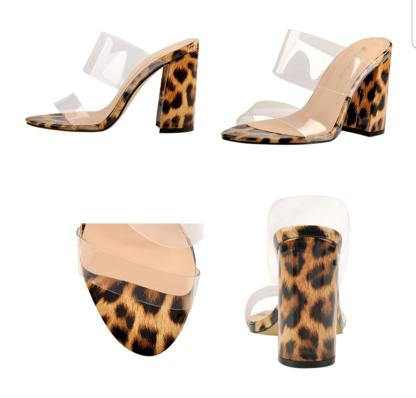 The Ferago PVC Chunk Heels 1