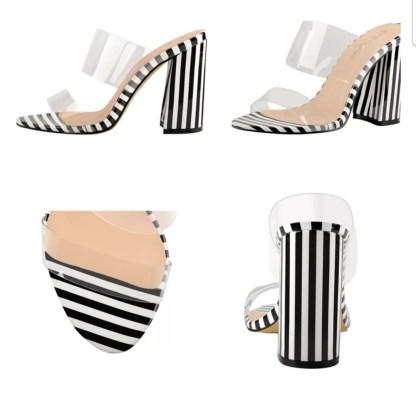 The Ferago PVC Chunk Heels 2