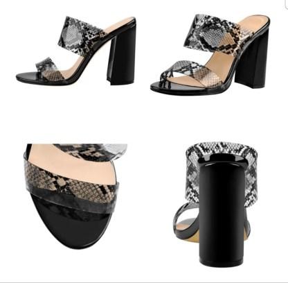 The Ferago PVC Chunk Heels 6