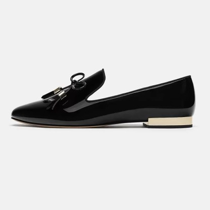 The Ferago Shinning Leather Loafers 3