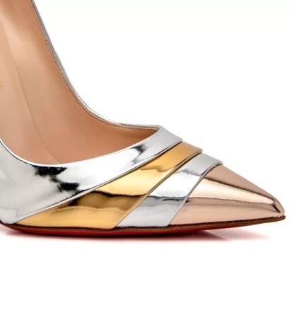 The Ferago Silver Gold Glitter Pumps 2