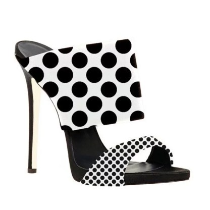 The Ferago Polka Dot Retro Mules 2