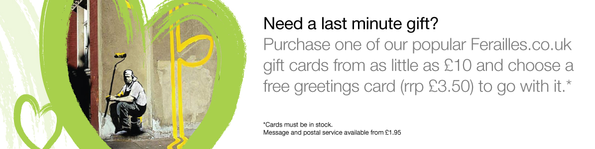 Need a last minute gift?  Pick a popular gift voucher and choose a greeting card free for the voucher