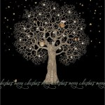 night tree - christmas card - ferailles.co.uk