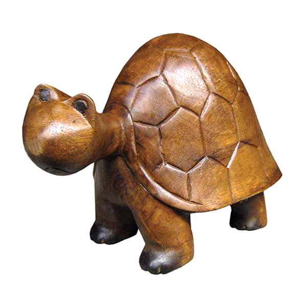 Handcarved wooden tortoise turtle small ferailles