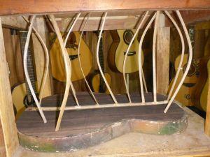 The back of Hadar's guitar