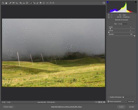Eliminar el polvo de las fotografías