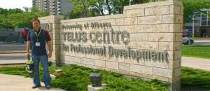 Fernando en la Universidad de Alberta, Canadá