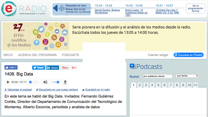 Radio Educación Big Data