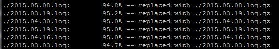 Linux gzip komutu
