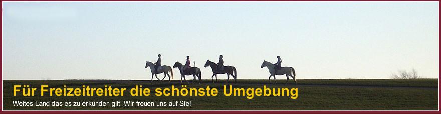Reiter auf Pferden
