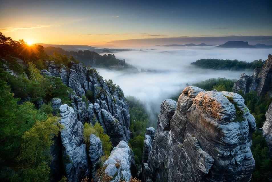 Morgenstimmung in der Sächsischen Schweiz
