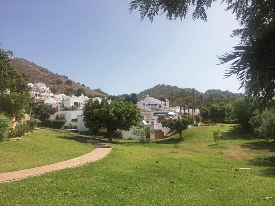 Grüne Parks unterhalb der Ferienwohnung