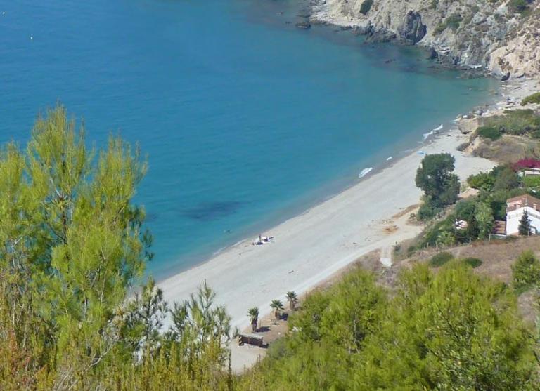 Playa Cañuelo - ca. 7 km östlich von Nerja