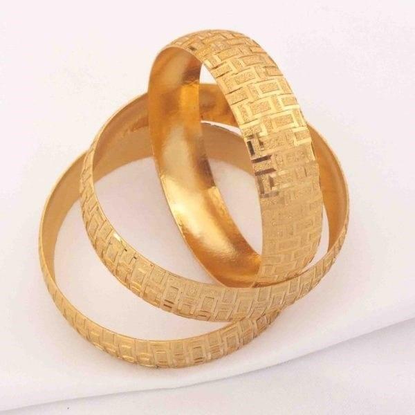 Altın Kaplama Bilezik 15 mm Kalınlık