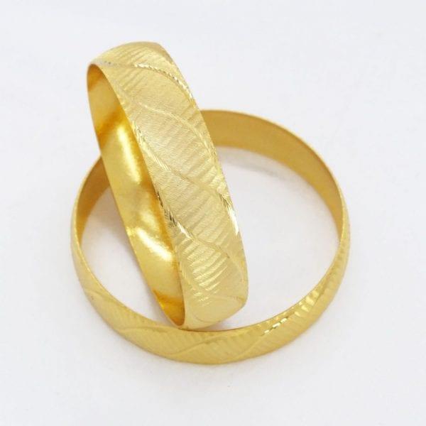 FerizZ Altın Kaplama Bilezik 15 mm Kalınlık