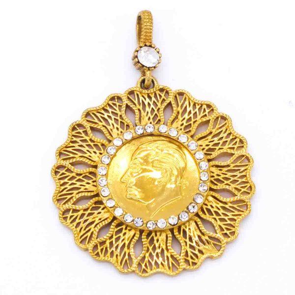Altın Kaplama Atalı Kolye Ucu TGR-242