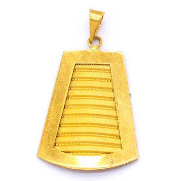 Altın Kaplama Tuğralı Kolye Ucu TGR-176