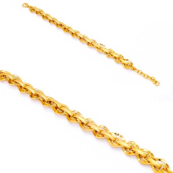 22 Ayar Altın Kaplama Samanyolu Bayan Bileklik 20cm-23cm Boy BLK-208