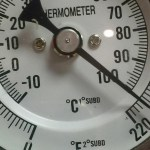 Kettle Thermometer Closeup homebrewing