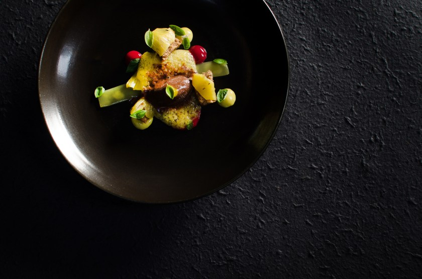 PINEAPPLE   Passion fruit, chocolate and basil