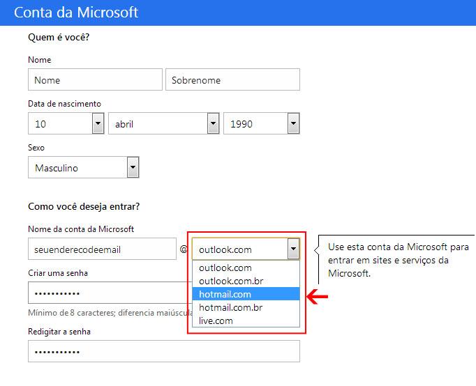 como criar email hotmail -#main