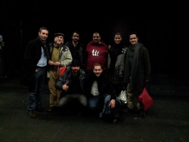 El Equipo de Cuento de Navidad, y técnicos del Teatro Zorrilla que nos acompañaron el 25 de Diciembre.