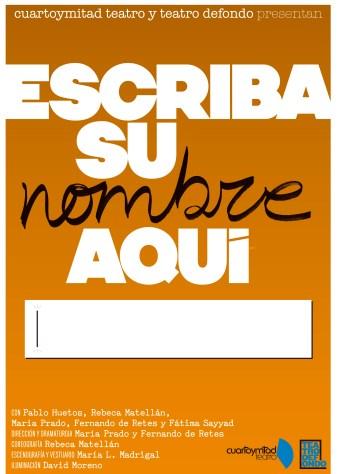 Cartel de Escriba su nombre Aquí. por Aresográfico