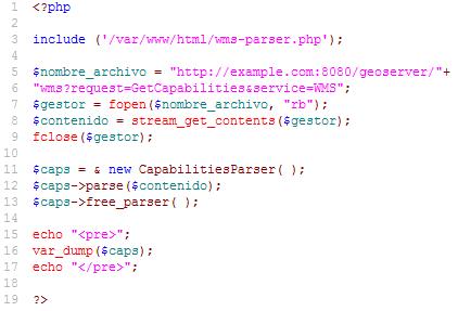 WMS Capabilities com PHP