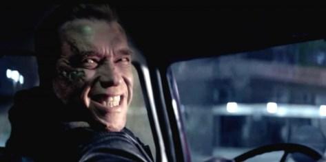 Arnold Schwarzenegger die terug zijn jonge zelve speelt in Terminator Genisys