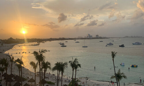 sunset in Mexican Riviera
