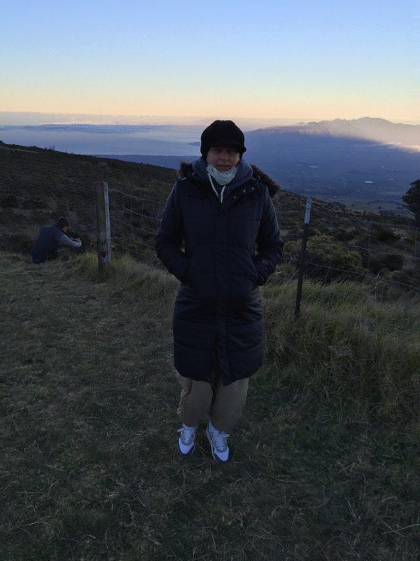 Maui Hawaii - puh ist das kalt hier morgens beim Haleakala Krater