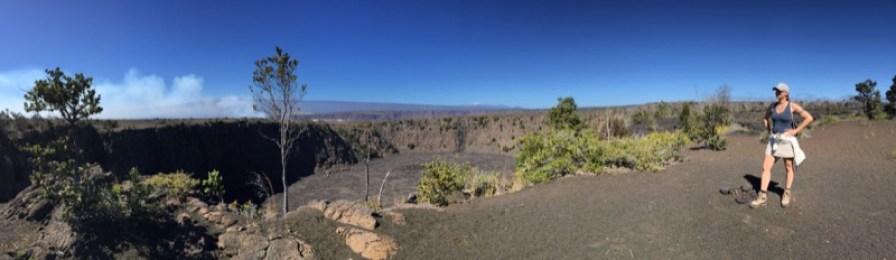 Big Island Hawaii - ich am Keanakako Crater im National Park Volcano