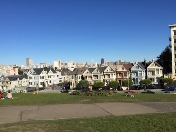 "San Francisco - berühmte viktorianische Häuser ""Painted Ladies"""