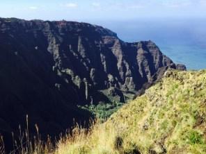 Kauai Hawaii - Napali Coast von oben - unter uns die Helikopter