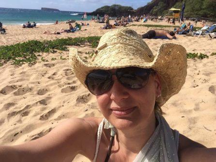 Maui Hawaii - Makena State Park - Big Beach - lieber Hut auf, die Sonne brennt