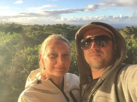 Maui Hawaii - Sonnenuntergangsstimmung - Blick aus unserer Unterkunft