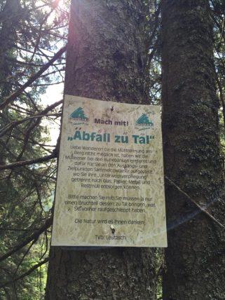 Leutasch - nicht nur dort gilt Umweltschutz - denkt bitte daran