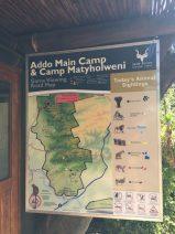 Addo Elephant Park. Übersicht über den Park mit Sichtungen.
