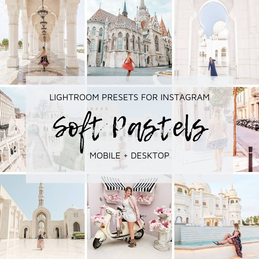 Lightroom Presets for Instagram - Soft Pastels (Mobile + Desktop) ⋆  Fernwehsarah