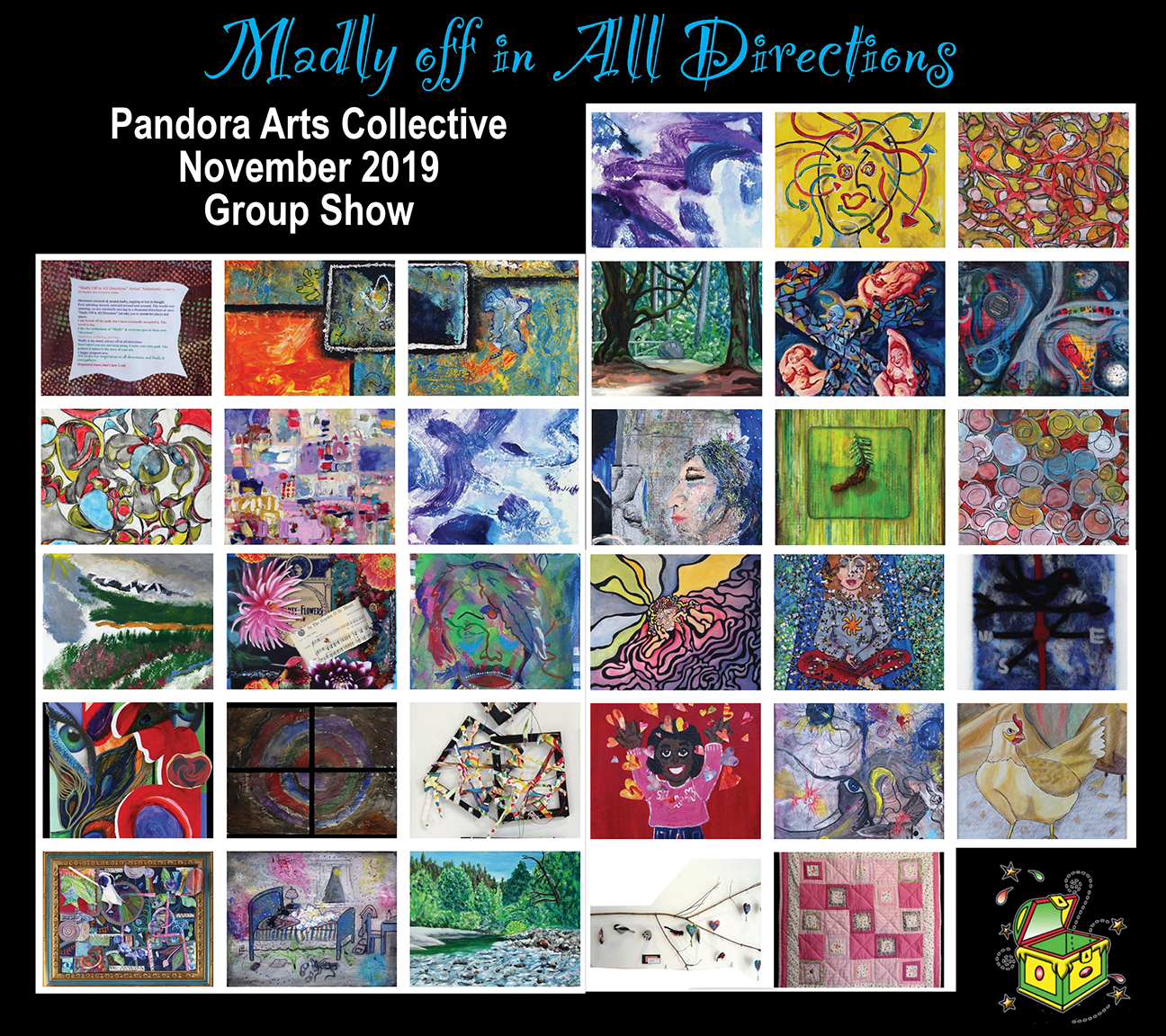 PACS Pandora Arts Collective Society poster