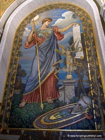 Minerva, Roman goddess of knowledge.