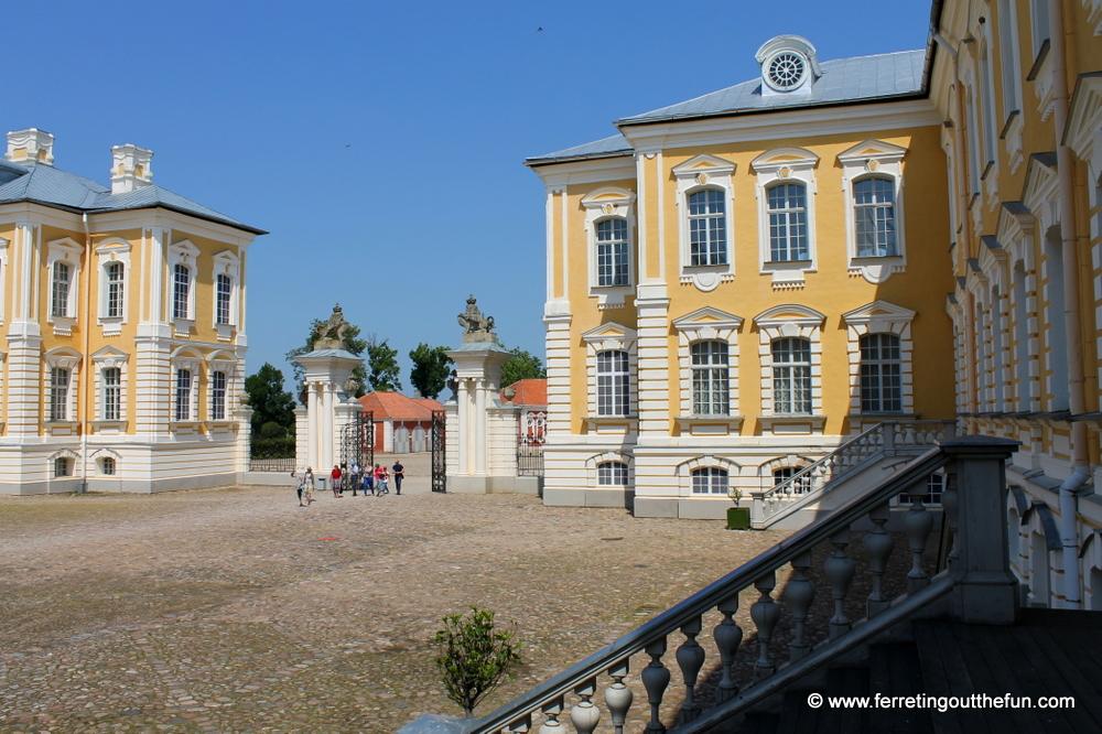 Rundale Palace courtyard