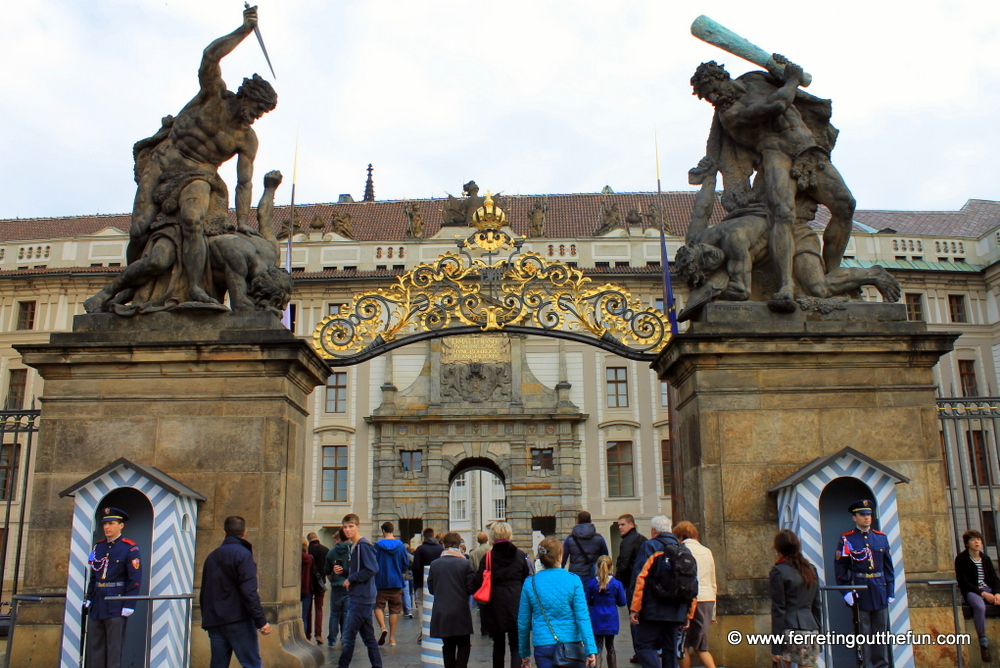 prague castle gate