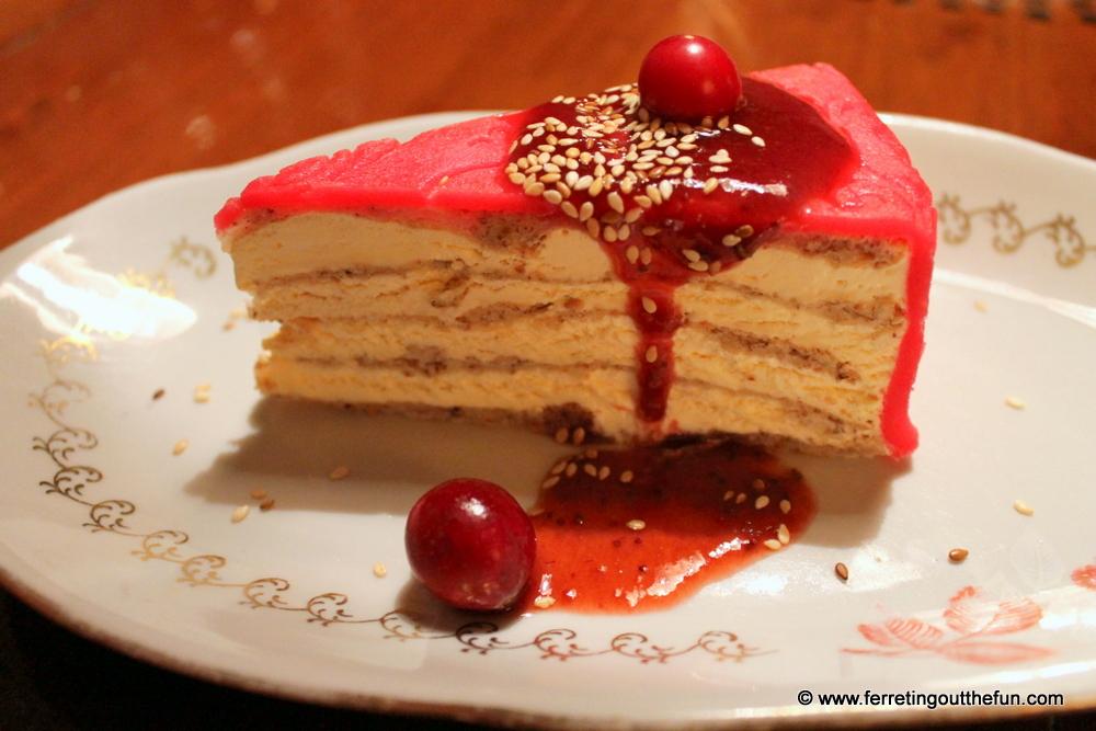 Marzipan ice cream cake