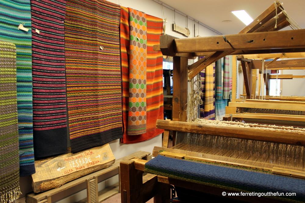 latvian weaving